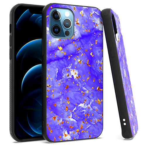 iPhone 12/ 12 PRO 6.1 Chrome Flake Marble Purple
