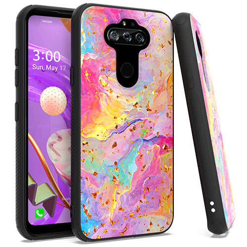 LG Aristo 5 K31 Fortune 3 Chrome Flake Marble Rainbow
