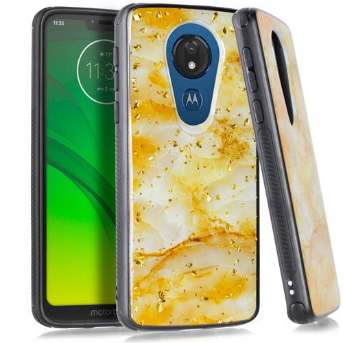 Motorola Moto G7 Power SUPRA Chrome Flake Marble Rose Gold