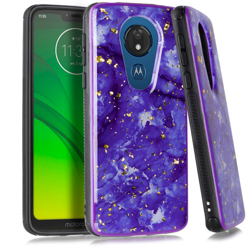 Motorola Moto G7 Power SUPRA Chrome Flake Marble Purple