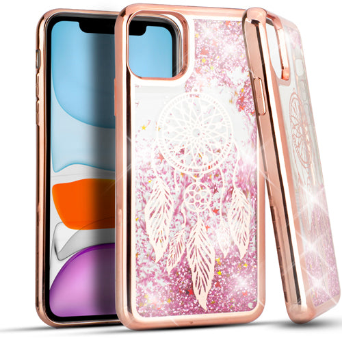 iPhone 11 6.1 CHROME Glitter Motion Dream Catcher ROSE GOLD