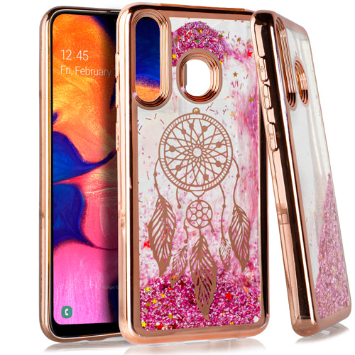 Samsung A20 A50 CHROME Glitter Motion DreamCatcher ROSE GOLD