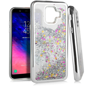 Samsung A6 CHROME Glitter Motion Case Silver