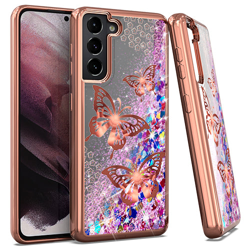 Samsung S21 PLUS 6.7 CHRO GLT Motion Butterfly ROSE GOLD