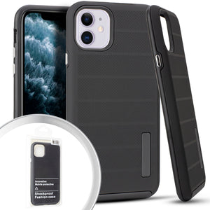 PKG iPhone 11 6.1 Delux Brushed Case Black