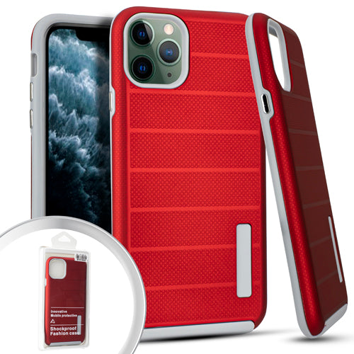 PKG iPhone 11 Pro MAX 6.5 Delux Brushed Case Red