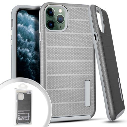 PKG iPhone 11 Pro MAX 6.5 Delux Brushed Case Silver