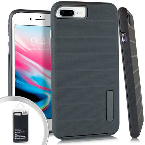 PKG iPhone 8 Plus Delux Brushed Case Black