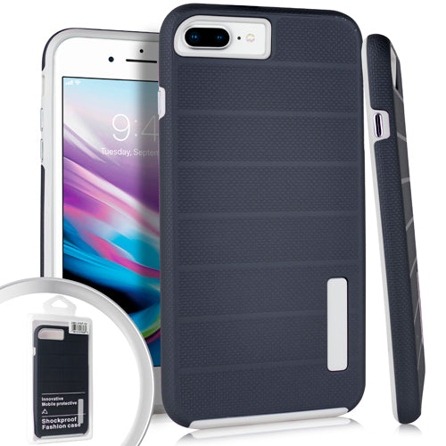 PKG iPhone 8 Plus Delux Brushed Case Navy Blue