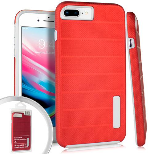 PKG iPhone 8 Plus Delux Brushed Case Red