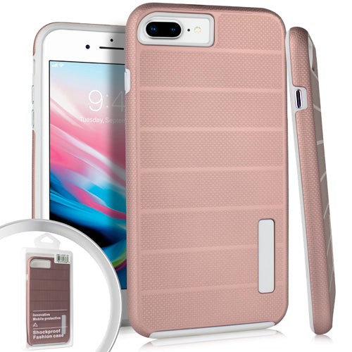 PKG iPhone 8 Plus Delux Brushed Case Rose Gold