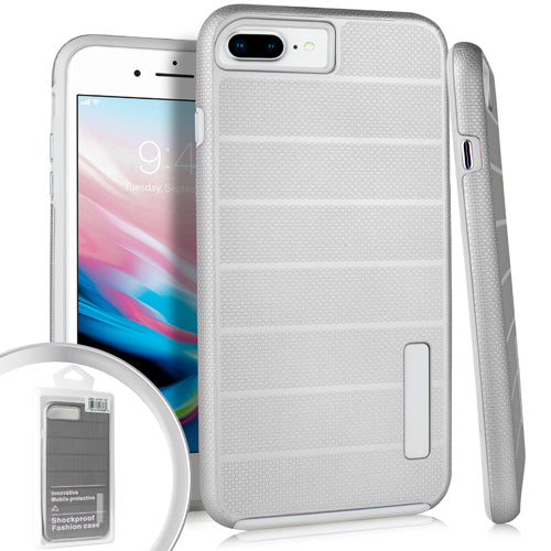 PKG iPhone 8 Plus Delux Brushed Case Silver