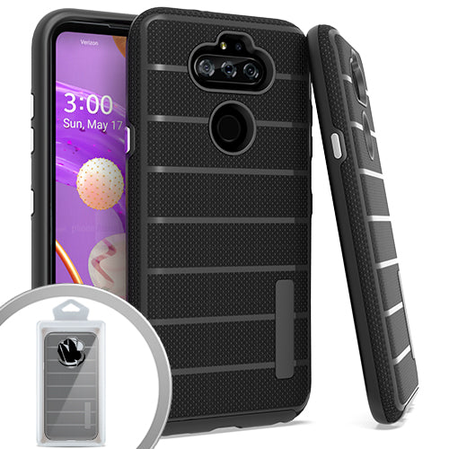 PKG LG Aristo 5 K31 Fortune 3 Delux Brushed Case Black