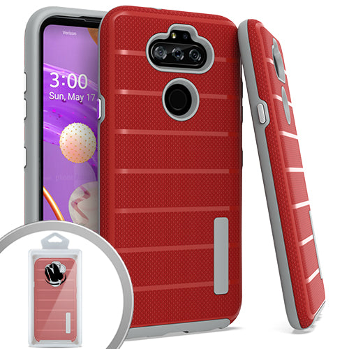 PKG LG Aristo 5 K31 Fortune 3 Delux Brushed Case Red