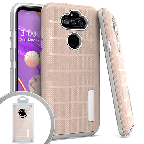 PKG LG Aristo 5 K31 Fortune 3 Delux Brushed Case Rose Gold