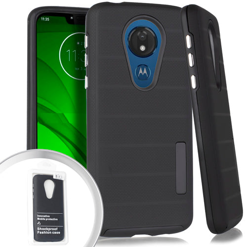 PKG Motorola Moto G7 Power Delux Brushed Case Black