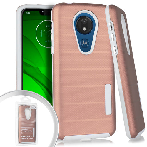 PKG Motorola Moto G7 Power Delux Brushed Case Rose Gold
