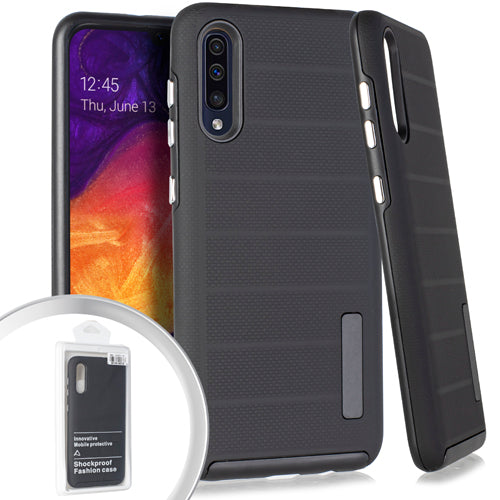 PKG Samsung A20/A50 Delux Brushed Case Black