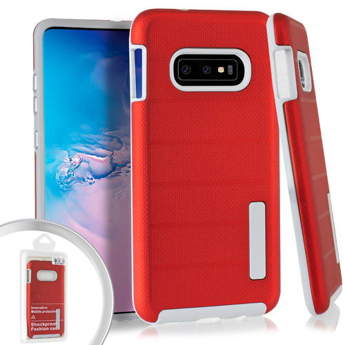 Samsung Galaxy S10e Hybrid Grip Case Cover (DBC RED)