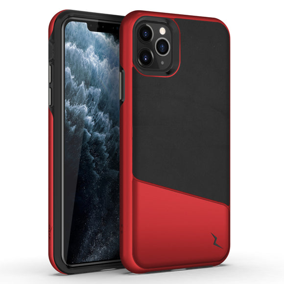 ZIZO DIVISION IPHONE 11 PRO (2019) CASE - DUAL LAYERED AND SHOCKPROOF PROTECTION - BLACK & METALLIC RED