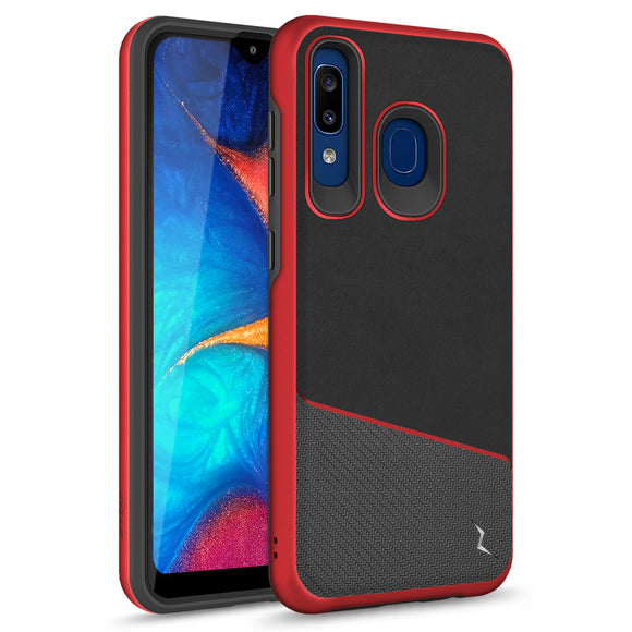 ZIZO DIVISION Samsung Galaxy A20 / A50 Case - Dual Layered and Shockproof Protection - Red/black