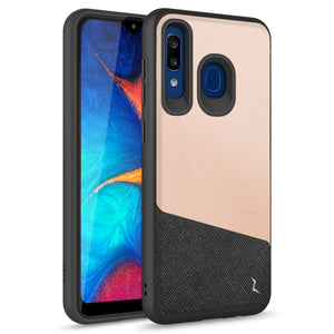 ZIZO DIVISION Samsung Galaxy A20 / A50 Case - Dual Layered and Shockproof Protection - saffiano blush