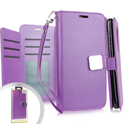 iPhone 11 PRO 5.8 Deluxe Wallet w/ Blister Purple