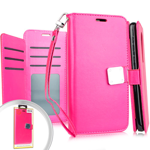 LG Stylo 5 Deluxe Wallet w/ Blister Hot Pink
