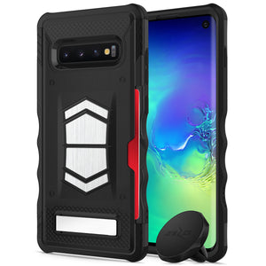 SAMSUNG GALAXY S10 ELECTRO SERIES WITH CARD SLOT BUILT IN MAGNET AIR VENT MAGNETIC HOLDER