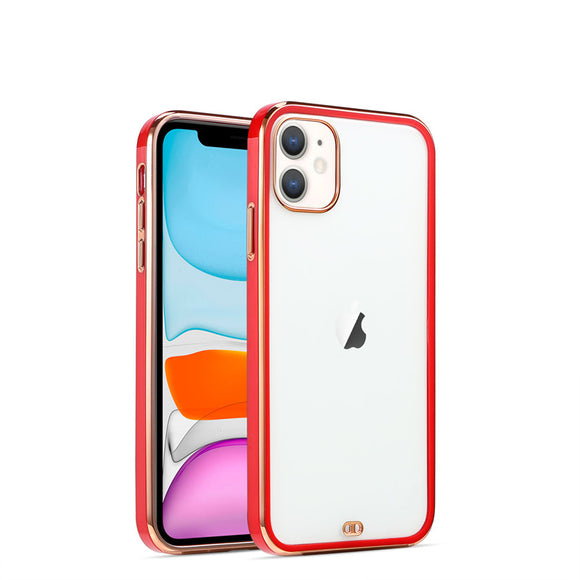 iPhone 12/12 Pro Color Bumper Case- Red