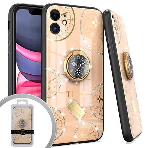 PKG iPhone 11 6.1 Bling Ring Case TIME Rose Gold