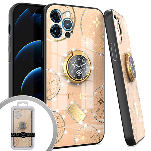 PKG iPhone 12 Pro MAX 6.7 Bling Ring Case TIME Rose Gold