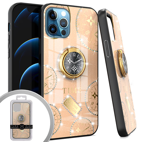 PKG iPhone 12/ 12 PRO 6.1 Bling Ring Case TIME Rose Gold