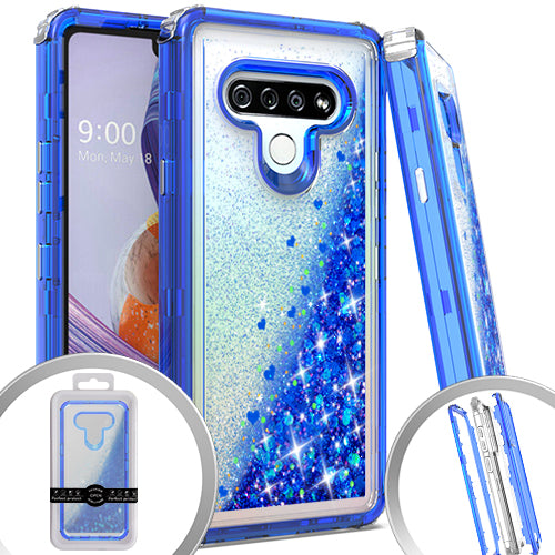 PKG 3 IN 1 LG Stylo 6 Glitter Motion Dr. Blue