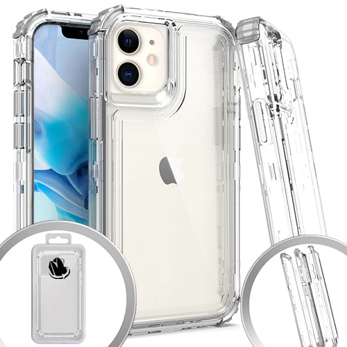 PKG 3 IN 1 iPhone 12 MINI 5.4 Transparent Case Clear