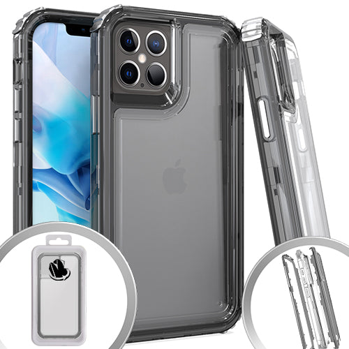 PKG 3 in 1 iphone 12/ 12 Pro 6.1 Transparent Case Smoke