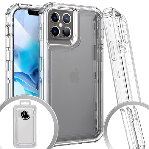 PKG 3 IN 1 iPhone 12/ 12 PRO 6.1 Transparent Case Clear