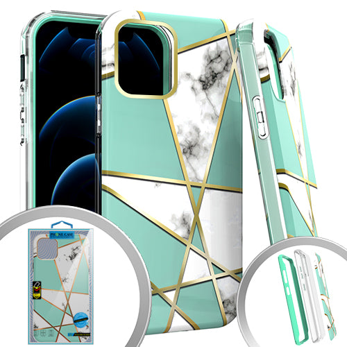 PKG 3 IN 1 iPhone 12/ 12 PRO 6.1 MARBLE Teal