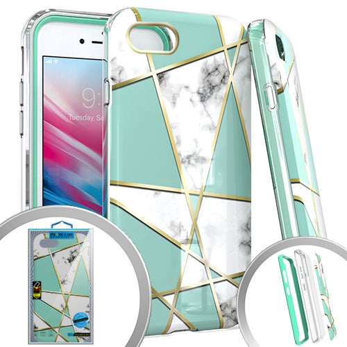 PKG 3 IN 1 iPhone 8 /7 /6 /SE 2020 MARBLE Teal
