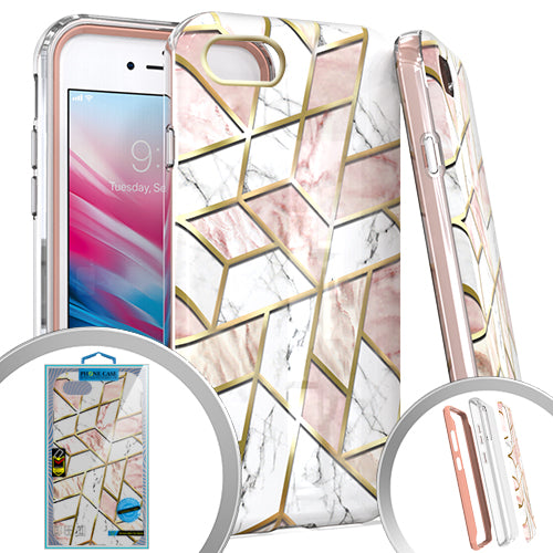 PKG 3 IN 1 iPhone 8 /7 /6 /SE 2020 MARBLE Pink