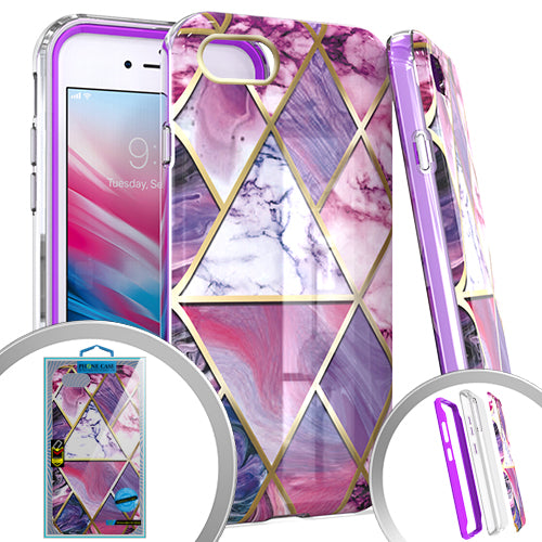 PKG 3 IN 1 iPhone 8 /7 /6 /SE 2020 MARBLE Purple