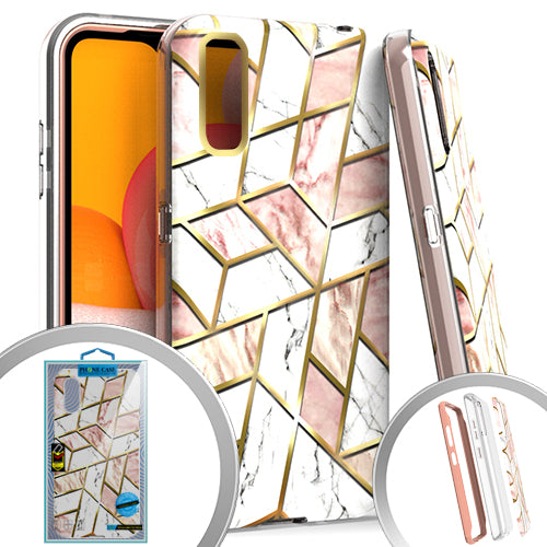 PKG 3 IN 1 Samsung A01 MARBLE Pink