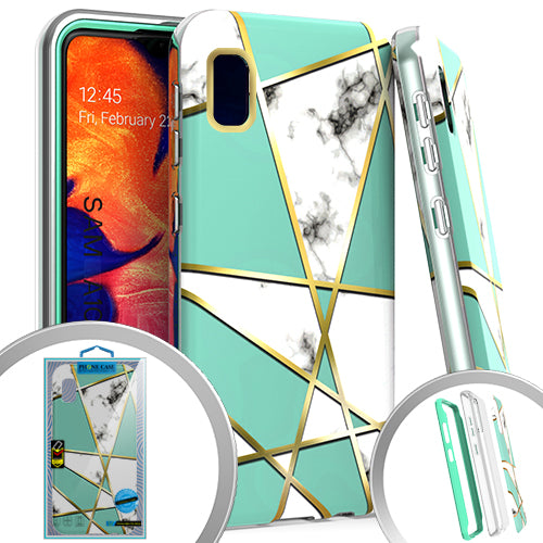 PKG 3 IN 1 Samsung A10E MARBLE Teal