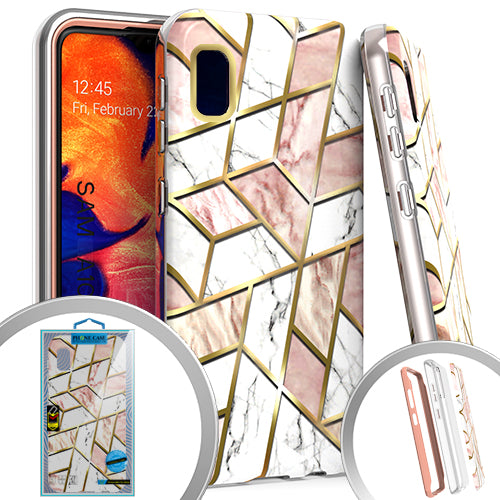 PKG 3 IN 1 Samsung A10E MARBLE Pink