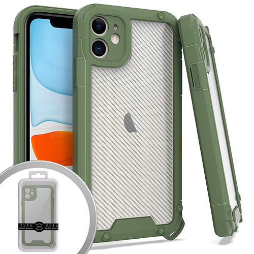 PKG iPhone 11 6.1 PROZIN CARBON Army Green