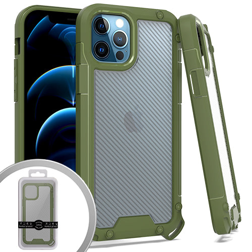 PKG iPhone 12/ 12 PRO 6.1 PROZIN CARBON Army Green