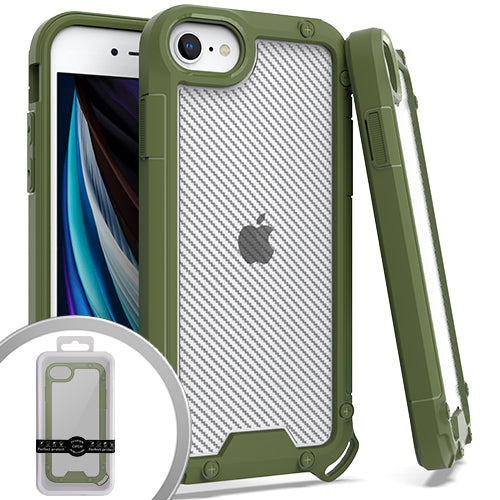 PKG iPhone 8 /SE 2020 PROZIN CARBON Army Green