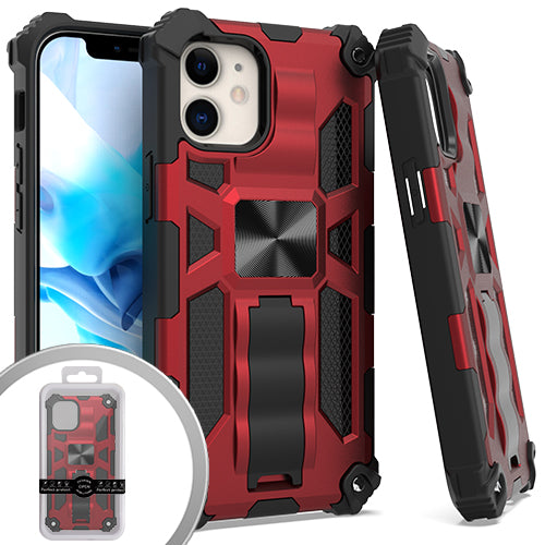 PKG iPhone 12 MINI 5.4 Tactical Stand Red