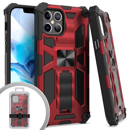 PKG iPhone 12 Pro MAX 6.7 Tactical Stand Red