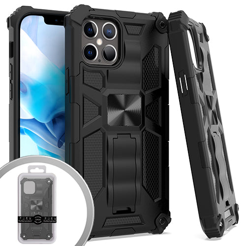 PKG iPhone 12/ 12 Pro 6.1 Tactical Stand Black